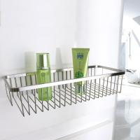 Chrome Layers Stainless Steel Bathroom Accessory Single Corner Shower Wire Basket