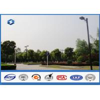 6m - 11M Height Outdoor Parking Lot Light Poles 160km / h Wind Speed Manufactures
