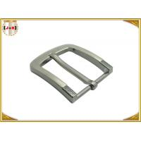 China Simple Pin Style Custom Logo Engraved Metal Belt Buckle 40MM for Man on sale