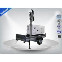 Single Phase Generator Mobile Light Tower Trailer With Manual Operated Mast Manufactures