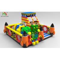 China Children Inflatable Jumping Castle Robot Model With Slide 2 Year Warranty on sale