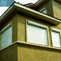 PVC 1m Width 3.0mm Automatic Window Shutters Manufactures