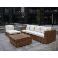 China Indoor / Outdoor Rattan Furniture , Cane Corner Sofa For Meeting Room on sale