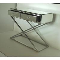 Quality Hallway Stainless Steel Mirror Tables Furniture With 2 Drawers Unique Design for sale