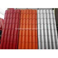 Roof Glazed Tile Roll Forming Machine 4 + 4kw With 0.3 - 0.6mm Thickness Manufactures