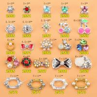 Hot NEW Wholesale Alloy Jewelry 3D Nail Art Jewelry Nail rhinestones Sticker Supplier Number ML2550-2573 Manufactures