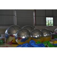 Reflective Snow Indoor / Outdoor Decorative Mirror Ball , PVC Inflatable Advertising Balloons Manufactures