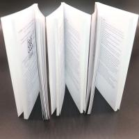 Thick Adhesive Binding Saddle Stitched Booklet With Black / White Colour Manufactures