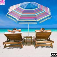 Buy cheap 2018 OEM new products sun beach umbrella outdoor with customized size factory in China from wholesalers