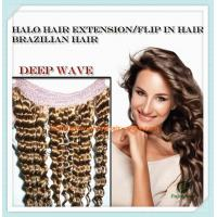 """Flip-in Hair extension 8""""-26"""" 33# color deep wave Human Hair Brazilian hair extension Manufactures"""