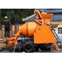 Mobile Trailer Mounted Concrete Mixer Pump Large Capacity For Construction Manufactures