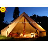 Big 12 Persons Inflatable Tent Canvas Bell Tent 5 X 5M Waterproof For Wedding Party Manufactures