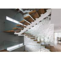 Contemporary Straight Flight Staircase Glass Railing Straight Flight Wooden Timber Manufactures