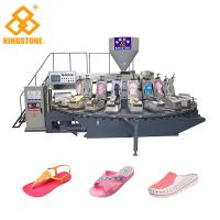 120-200 Pairs / Hour PVC lady's Sandal Slipper Making Machine Single Color Air Blowing Machine Manufactures