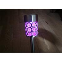 China Colour Changing Solar Stake Lights Waterproof For Garden Path , Environmentally Friendly on sale