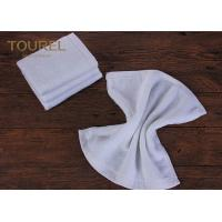 Buy cheap 100% Cotton16s Hotel Face Towel White Terry Face Cloth With Embroidered Logo from wholesalers