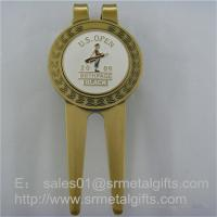 Metal Golf Pitch Mark Repair Tool with Enamel Ball Marker, Metal Golf Pitch Forks Manufactures