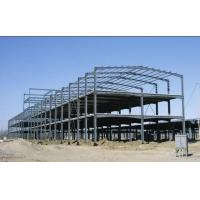 Green Paint Garage Steel Frame Lightweight Steel Structures- Green Buildings Manufactures