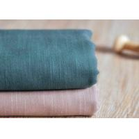 Slub Plain 100 Cotton Canvas / Semi - Bleached Dyeing Cotton Fabric Manufactures