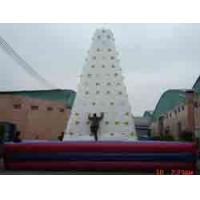 White PVC Outdoor Inflatable Rock Climbing Wall , For Outdoor Use Manufactures