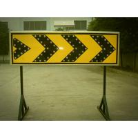 Curve Guidance LED Flashing Arrow Board Customized Solar Road Sign 400×1200 mm Manufactures