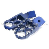 Anodized MX Adjustable Foot Pegs , Passenger Foot Pegs For Dirt Bike Manufactures