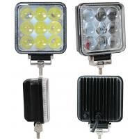 27W Truck Mounted Work Lights , 4D 4 Inch Square Led Work Lights 1800lm Lumens Manufactures