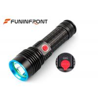 5W 350 Lumens Led Flashlight Rechargeable , 4 Mode Handheld Military Tactical Flashlight  Manufactures