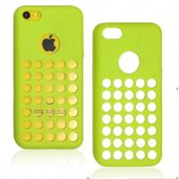 TPU Green Cell Phone Protective Cases Anti-Slip For iPhone 5C Manufactures