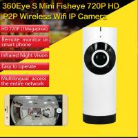 EC2 Mini 180° Panorama Camera Wireless WIFI P2P IP Night Vision Home Security Surveillance iOS/Android APP Control Manufactures
