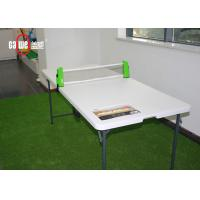 Rectangle Folding Utility Table , Customized Size Foldable Plastic Table Manufactures