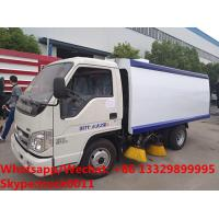 HOT SALE! customized good price Forland 4*2 RHD 108hp smaller diesel road sweeper truck, street sweeping vehicle Manufactures