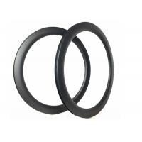 Shiny / Matte Full Carbon Road Bike Rims Anti High Temperature With Basat Braking Surface Manufactures