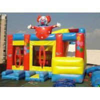 Clown Bouncy Castles Inflatable Sports Games / Moonwalk Bouncer CE Blower For Children Manufactures