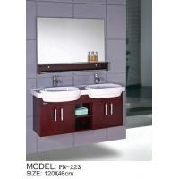 Quality solid wood double basin hanging/floating/wall-mounted bathroom vanity/bathroom cabinet for sale