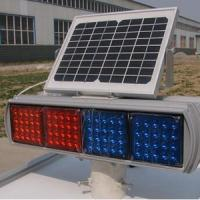 Double Faces Solar Traffic Warning Light , Flashing LED Solar Powered Sign Lights Manufactures