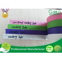 Colored Crepe Paper without Residue Rubber Masking Tape 30m 48m Length Manufactures