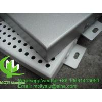 Perforation Hole Aluminum Solid Panel Architectural Metal Cladding , Aluminum Panels For Buildings Manufactures