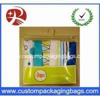 Super Clear Soft plastic PVC Hook Bag / Slider Zipper PVC Hanger Bag For Clothing Manufactures