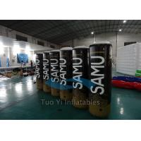 Digital Printing Inflatable Buoys / Racing Buoy Cylindrical Shape For Advertising Manufactures