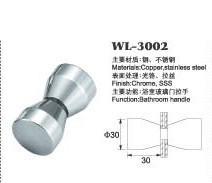 copper shower door knob WL-3002 chrome finished Dia.30x60mm glass door handle