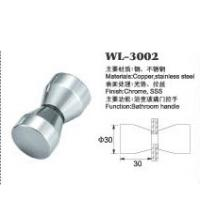 Quality copper shower door knob WL-3002 chrome finished Dia.30x60mm glass door handle for sale