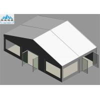Heavy Duty 6 x 10M White PVC Marquee Tent With Glass Fire Door Fireproof OEM Manufactures