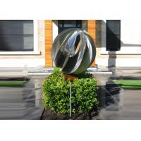 Attractive Stainless Steel Sphere Sculpture / Contemporary Steel Sculpture Manufactures