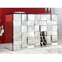 Multi Faceted Mirrored Side Board Six Drawers Large Storage Volume Manufactures