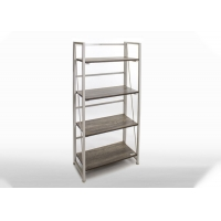 BSCI 4 Tiers Folding Wooden Bookcase With 40KG Capacity Manufactures