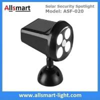 Solar Security Spotlight with Motion Sensor 4LED 350LM Wireless Battery Powered Simulation Camera Light Manufactures