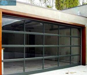 Transparent PC Glass Sectional Overhead Door For Garage Manufactures