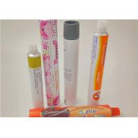 Colorful Squeeze Aluminum Cosmetic Tubes For Hand Cream / Face Ointment Manufactures