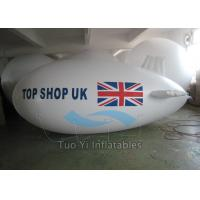 Waterproof PVC Visibility Advertising Zeppelin / Helium Blimp Balloon Durable Manufactures